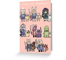 Choose your Adventurer! Greeting Card