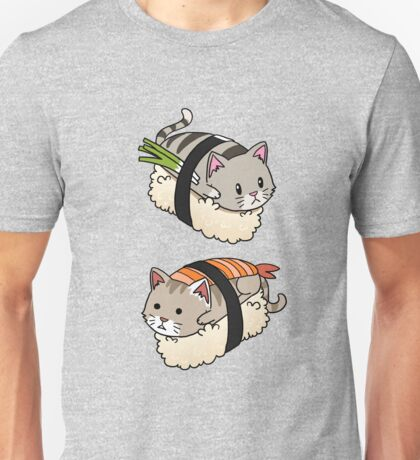 Funny Cat Sushi Roll Kitten Pussy Rescue Gift  Unisex T-Shirt