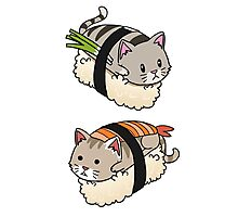 Funny Cat Sushi Roll Kitten Pussy Rescue Gift  Photographic Print