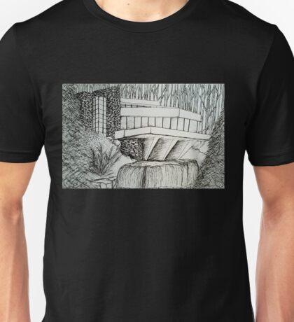 Frank Lloyd Wright: Falling Waters Unisex T-Shirt
