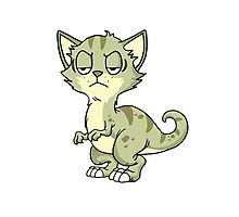 Funny Cat Dinosaur Kitten Pussy Rescue Pet Animals Gift Photographic Print