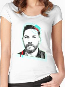 Tom Hardy - On Shapes Women's Fitted Scoop T-Shirt