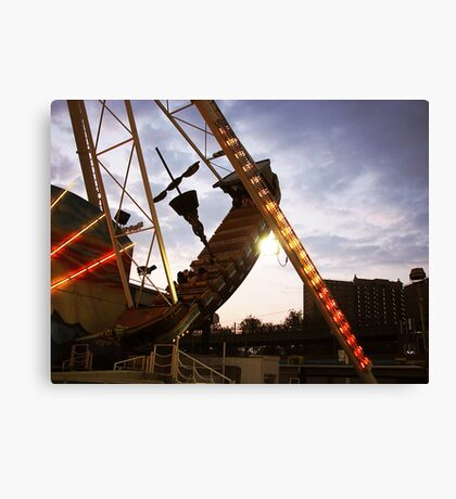 The Pirate Ship at Astroland  Canvas Print