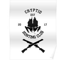 Cryptid Hunting Club (Black) Poster