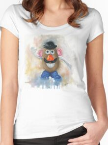 Mr Potato Head - vintage nostalgia  Women's Fitted Scoop T-Shirt