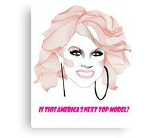 Courtney Act - America's next top model Canvas Print