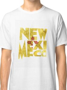 New Mexico Typographic Map Flag Classic T-Shirt