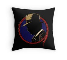 Hardboiled Professor Throw Pillow