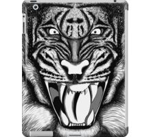 Raging Tiger - Black & White Edition (Comic Book Style) iPad Case/Skin