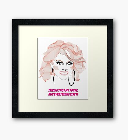 Courtney Act - My forte Framed Print