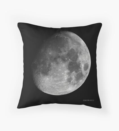 Moon - Waxing Gibbous Throw Pillow