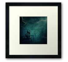 At the edge of Nothing Framed Print
