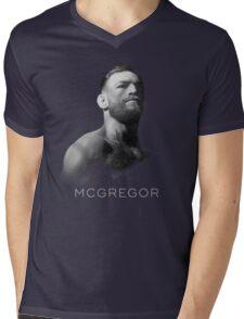 McGregor - Black Cool Mens V-Neck T-Shirt