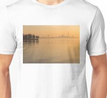 Soft Gold - Toronto Skyline In Velvety Morning Mist Unisex T-Shirt