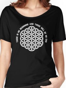 Sacred Geometry: Flower Of Life - Existance Quote Variation Women's Relaxed Fit T-Shirt