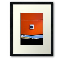 goin crazy in those blazing seventies colours Framed Print