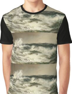 Thomas Moran - The Much Resounding Sea. Sea landscape: sea view,  yachts,  holiday, sailing boat, coast seaside, waves and beach, marine, seascape, sun clouds, nautical, ocean Graphic T-Shirt