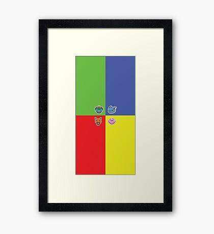 Pokemon Forever blue'n'red Framed Print
