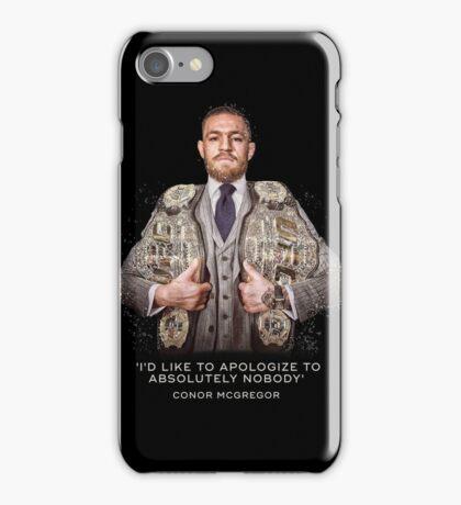 McGregor - 2 Belts iPhone Case/Skin