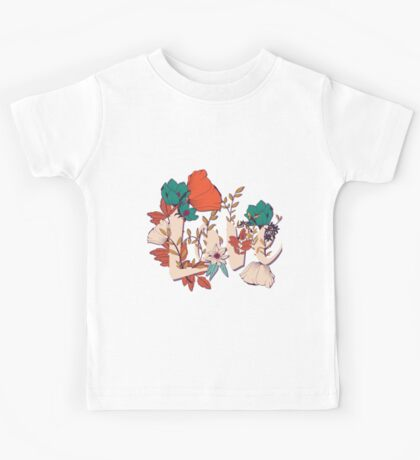 Flowers typography poster design, Love Kids Tee