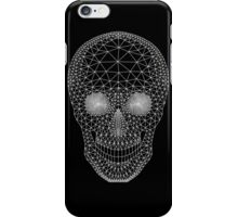 White skull with mesh pattern iPhone Case/Skin