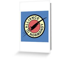 Alliance Normandy Greeting Card