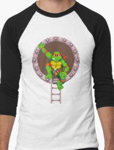 Raph hanging out Men's Baseball ¾ T-Shirt