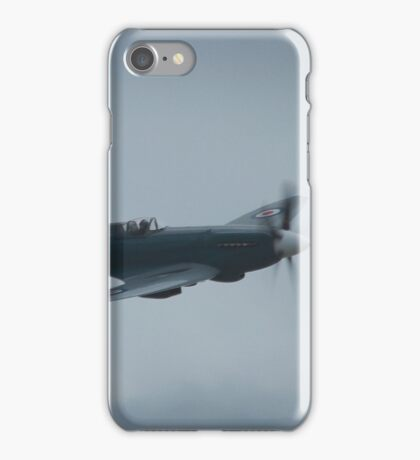 Spitfire in cloudy skies iPhone Case/Skin
