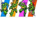 TMNT Turtles in Time Characters by Funkymunkey
