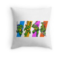 TMNT Turtles in Time Characters Throw Pillow