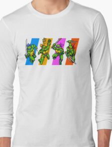 TMNT Turtles in Time Characters Long Sleeve T-Shirt