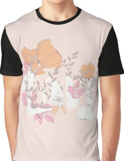 Flowers typography poster design, Love Graphic T-Shirt