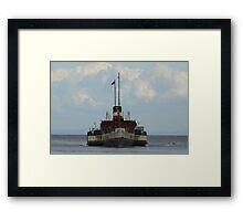 PS Waverley approaching Brodick Framed Print