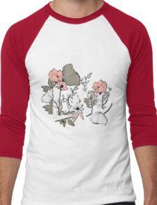 Flowers typography poster design, Love Men's Baseball ¾ T-Shirt