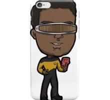 Star Trek TNG Lieutenant Commander Geordi La Forge Chibi iPhone Case/Skin