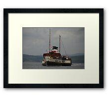 PS Waverley approaching Lochranza  Framed Print