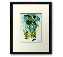 Blue & green abstract Framed Print