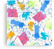 Colour Splash Brush Strokes Canvas Print