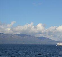 MV Caledonian Isles approaching Arran by Jonathan Cox