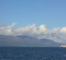 MV Caledonian Isles approaching Arran by Jonathan Cox
