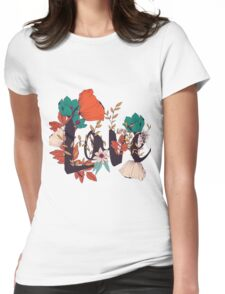 Flowers typography poster design, Love Womens Fitted T-Shirt