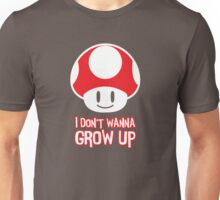 Mario Mushroom - I Don't Want to Grow Up (Happy Face) Unisex T-Shirt