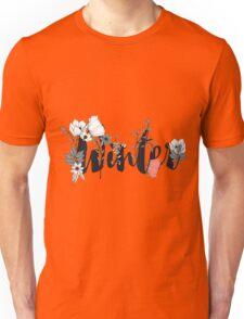 Flowers typography poster design, Winter Unisex T-Shirt