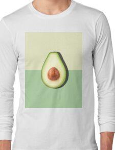Avocado Half Slice Tropical Fruit Long Sleeve T-Shirt