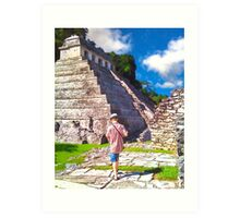 Discovering Palenque - Mayan Ruins in Mexico Art Print