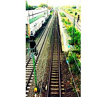 train rail in cologne by palluch atelier Photographic Print