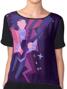 Purple Ghost Chiffon Top