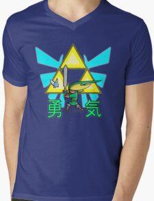 The Hero in Green Mens V-Neck T-Shirt