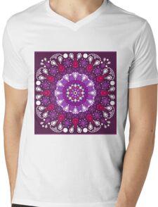 Dot Painting trifft Mandala Mens V-Neck T-Shirt