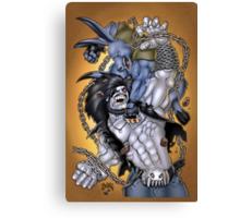 Salty Roo vs. Lobo Canvas Print